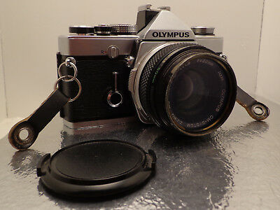 Olympus OM-1n Camera Silver Body with (50mm f1.8 lens)