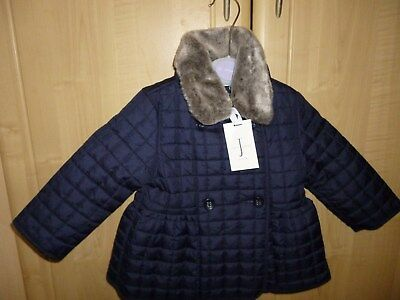 BNWT JASPER CONRAN Beautiful Baby Girls Coat 12-18 mths. Padded and fully lined.