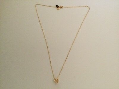 By Charlotte gold over silver heart necklace withruby stone chain length is 46cm