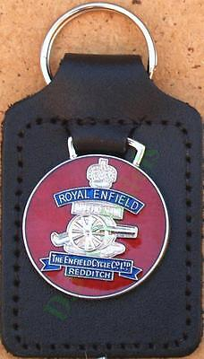 Royal Enfield Keyring Key Ring - badge mounted on a leather fob