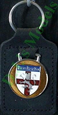 Lambretta Keyring Key Ring - badge mounted on a leather fob