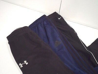 Lot of 3 Nike & Under Armour Men's Sweatpants Size Small Warm Up Athletic Adidas
