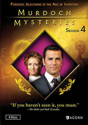 Murdoch Mysteries Season 4 New DVD! Ships Fast! NEW/SEALED/FAST SHIPPING