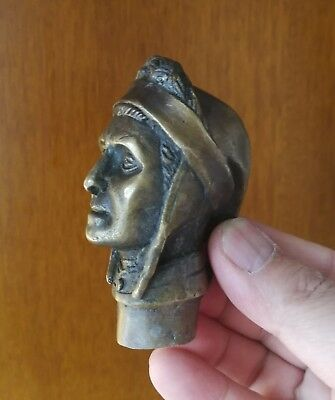 Old Bronze Hand Carved (Indian) Statues Cane Walking Stick Head