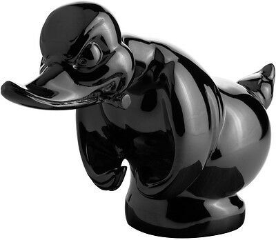 Black Death Proof Duck / Convoy Duck Hood Ornament Car Mascot Rat Rot Hot Rod