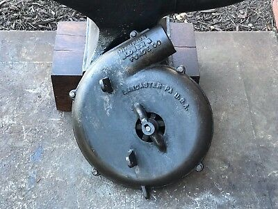 Vintage Blacksmith Bladesmith Champion Coal Forge Blower Anvil Knife Blade