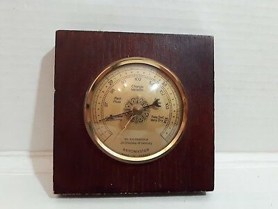 Vintage Old Barometer Made In France Small 4.5 Inches X 4.5 Inches Weather Small