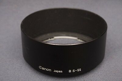 Canon BS-55 Lens Hood Bayonet Mount for 50mm 1.4/1.8 Lenses