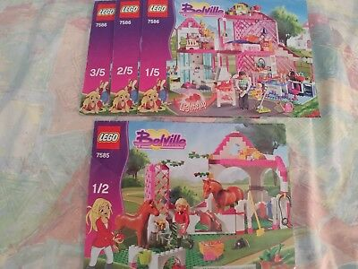 lego Belville 7585 and 7586 instructions only