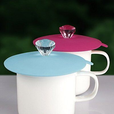 Food Grade Silicone Cup Lids Diamond Mug Cover Anti-dust Airtight Seal Set of 6
