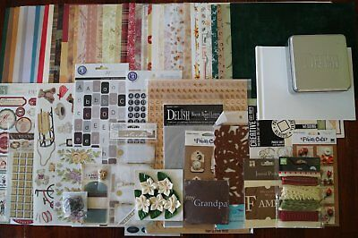 Heritage Bulk Scrapbooking Pack includes stickers papers embellishments chipboar