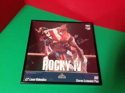 Rocky IV Signed By Dolph Lundgren, Carl Weathers, Burt Young & Brigitte Nielsen