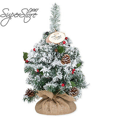"""Delton Products 26"""" Poly Frost Tree w/ Pine, Natural"""