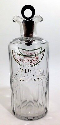 Antique empty red & gold label Johnny Walker special Whiskey bottle decanter