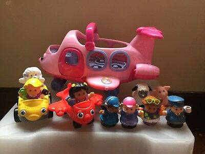 Fisher Price Little People Aeroplane And Passengers Lights And Sounds Bundle.
