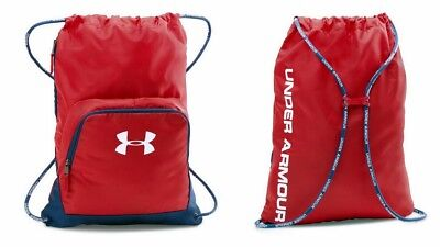 Under Armour UA Exeter II Sackpack Unisex Drawstring Backpack 1286663, Gym Red