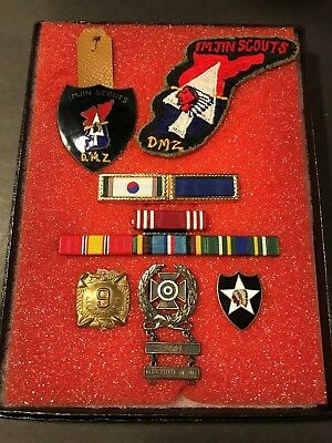 Korean War - U.S. ARMY GROUPING -ORIGINAL! Imjin Scouts DMZ, Medals and Patch!