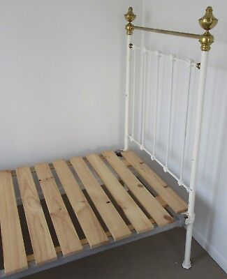 Antique single brass bed