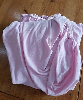 Ikea standard cot fitted sheets pink baby bed linen