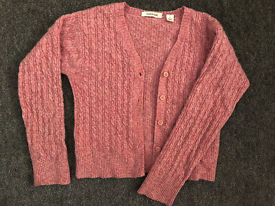 Girls pink cableknit Country Road cardigan, szL #SundayMarket