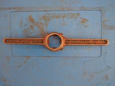 """Collectible old cast steel Die Button Wrench - for 13/16"""" OD dies"""