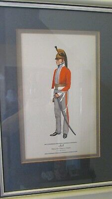 Framed print. Major 6th. Dragoon Guards from 1818