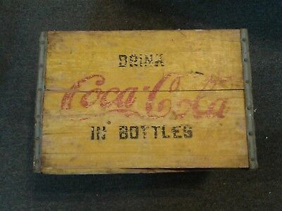 Vintage  Coca-Cola Wood Wooden Crate Carrier Box