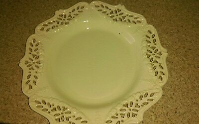 Royal Creamware Pierced Work Plate 10.5""
