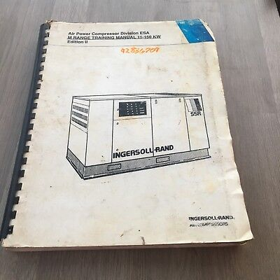 Ingersoll Rand Electric Air Compressor Esa M Range Training Manual 11-150Kw