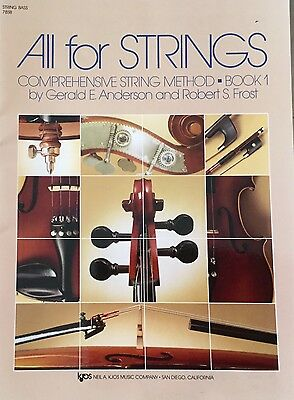 All for Strings DOUBLE BASS method book 1