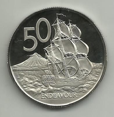 1972 New Zealand proof 50 cents