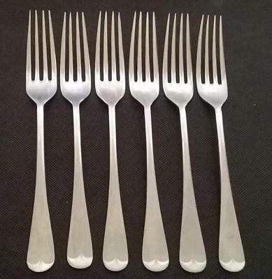 6 x Vintage Stainless Table Forks Old English Pattern Eye Witness 20.7cm