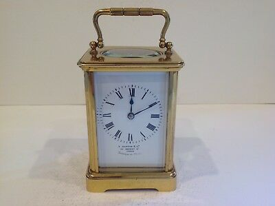 Superb Antique Corniche Cased French Carriage Clock From Arsene Margaine