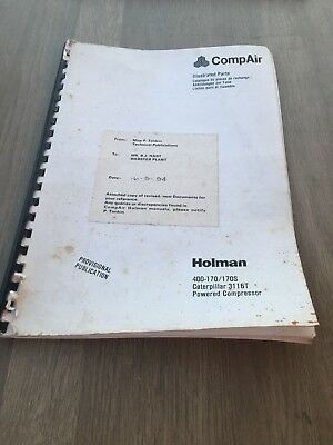 Compair Holman 400/170 Cat 3116T Engine Illustrated  Parts Manual Incvat