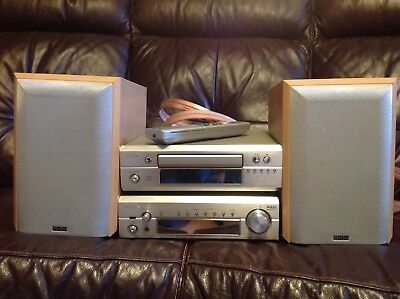 Denon F101 HiFi system,  Stereo Receiver, CD player, Mission speakers, Remote