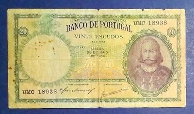 PORTUGAL: 1 x 20 Banknotes (1954) - Fine Condition