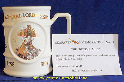 "Holkham Pottery Seafarer Commemorative No. 1 ""The Nelson Mug"" Ltd Ed 470 of 1000"