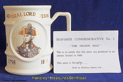 "Holkham Pottery Seafarer Commemorative No. 1 ""The Nelson Mug"" Ltd Ed 476 of 1000"