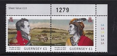 Guernsey 2012 The War of 1812 MNH with CYL (2)