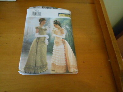 Butterick Making History 3012-Misses Victorian Dress Bustle - Steampunk   Uncut