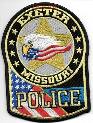 "Exeter, Missouri (3.75"" x 5.25"" size) shoulder police patch (fire)"