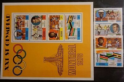 Kenia 1976 Olympische Sommerspiele Montreal Michelnr.58A-61A