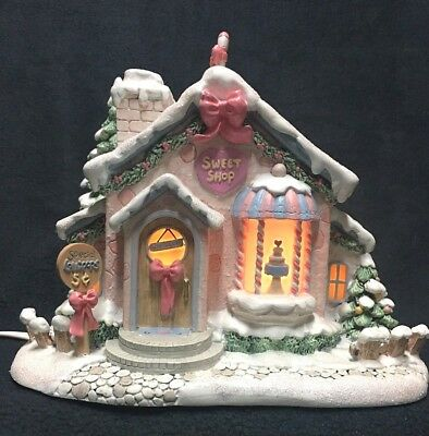 Sweet Treats Shoppe, Precious Moments Christmas Village by Hawthorne Village EUC