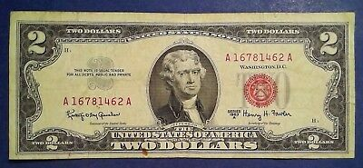 USA: 1 x 2 Dollar Banknotes (1963) RED SEAL - Fine