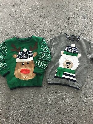 Christmas Jumper Boys 1 1/2 - 2years George 18-24 months