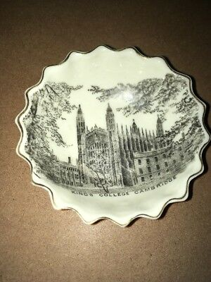 Vintage Crested China W H Goss - pin dish,Kings College Cambridge transfer print
