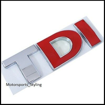 TDI Badge Emblem Decal Sticker Logo VW Audi Seat Skoda Golf MK4 MK5 MK6 Car (31)