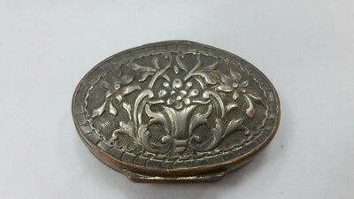 RRR Rare collectible Turkish Greek silver and bronze with gilt snuff box 18-19 c