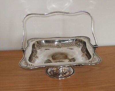 Vintage silver plate pedestal fruit bowl made by Martin Hall & Co.