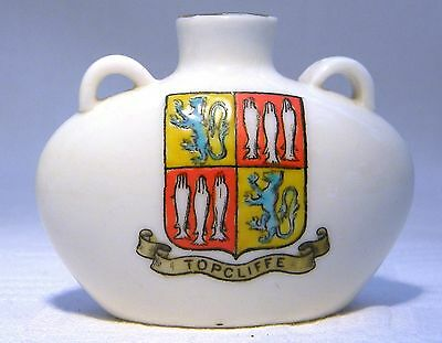 Goss Crested China Sulderland Bottle  Topcliffe (B32)  Rare